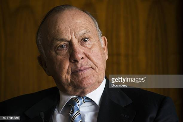 Christo Wiese billionaire and chairman of Steinhoff Holdings NV pauses during a Bloomberg Television interview at the Pepkor Holdings Pty Ltd offices...