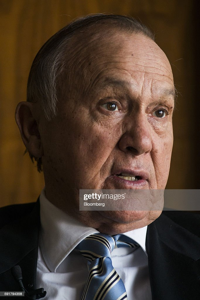Christo Wiese, billionaire and chairman of Steinhoff Holdings NV, speaks during a Bloomberg Television interview at the Pepkor Holdings Pty Ltd. offices in Cape Town, South Africa, on Wednesday, Aug. 17, 2016. Steinhoff Holdings NV isn't done with deals yet and has the potential to double its market value over the next five years, according to Wiese, the chairman and largest shareholder of the acquisition-hungry South African retailer. Photographer: Waldo Swiegers/Bloomberg via Getty Images