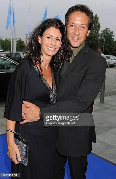 Christof Arnold and his wife Petra attend the Bavarian Sport Award 2010 at the International Congress Center Munich on July 17 2010 in Munich Germany