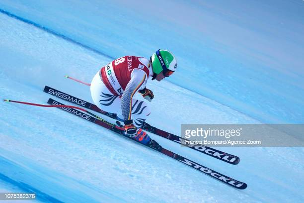 Christof Brandner of Germany competes during the Audi FIS Alpine Ski World Cup Men's Downhill on December 28, 2018 in Bormio Italy.