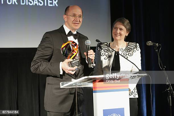 Christof Ehrhart Head of Corporate Communications Corporate Responsibility and EVP Deutsche Post DHL receives an award at the United Nations...