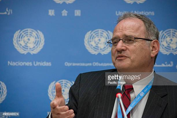 Christof Heyns speaks to the UN press corps. Christof Heyns, Co-founder of the Institute for International and Comparative Law in Africa and the UN...