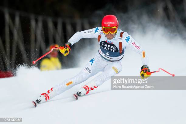 Christof Innerhofer of Italy competes during the Audi FIS Alpine Ski World Cup Men's Super G on December 14 2018 in Val Gardena Italy