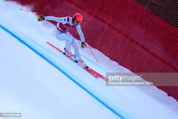 Christof Innerhofer of Italy competes during the Audi FIS Alpine Ski World Cup Men's Downhill on December 28, 2018 in Bormio Italy.