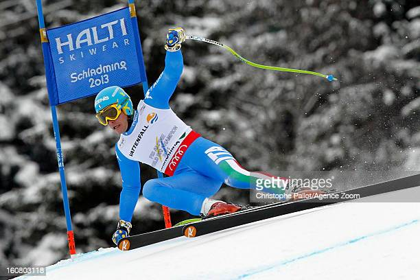 Christof Innerhofer of Italy competes during the Audi FIS Alpine Ski World Championships Men's SuperG on February 06 2013 in Schladming Austria