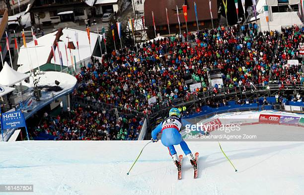 Christof Innerhofer of Italy competes during the Audi FIS Alpine Ski World Championships Men's Super Combined on February 11 2013 in Schladming...