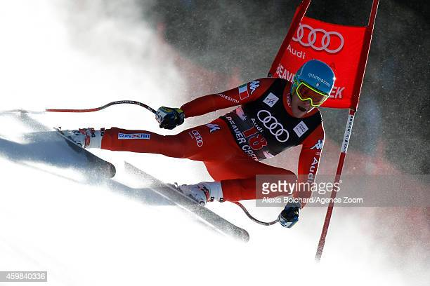 Christof Innerhofer of Italy competes during the Audi FIS Alpine Ski World Cup Men's Downhill Training on December 02 2014 in Beaver Creek Colorado