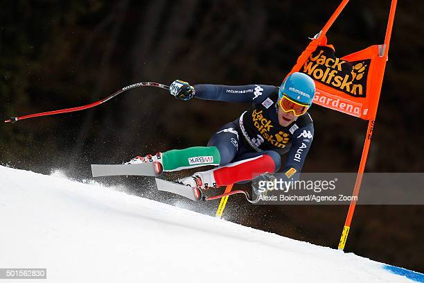 Christof Innerhofer of Italy competes during the Audi FIS Alpine Ski World Cup Men's Downhill Training on December 16 2015 in Val Gardena Italy