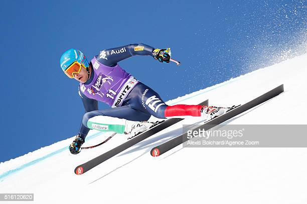 Christof Innerhofer of Italy competes during the Audi FIS Alpine Ski World Cup Finals Men's and Women's SuperG on March 17 2016 in St Moritz...