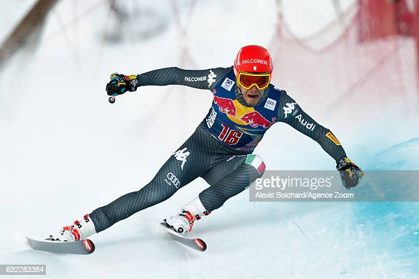 Christof Innerhofer of Italy competes during the Audi FIS Alpine Ski World Cup Men's Downhill on January 21 2017 in Kitzbuehel Austria