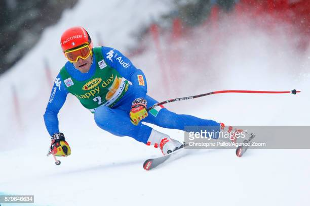 Christof Innerhofer of Italy competes during the Audi FIS Alpine Ski World Cup Men's Super G on November 26 2017 in Lake Louise Canada