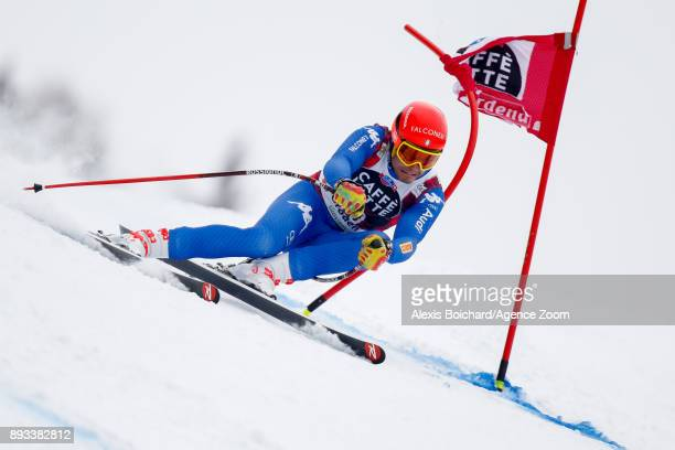 Christof Innerhofer of Italy competes during the Audi FIS Alpine Ski World Cup Men's Super G on December 15 2017 in Val Gardena Italy