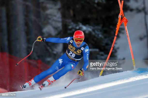 Christof Innerhofer of Italy competes during the Audi FIS Alpine Ski World Cup Men's Downhill on December 16 2017 in Val Gardena Italy