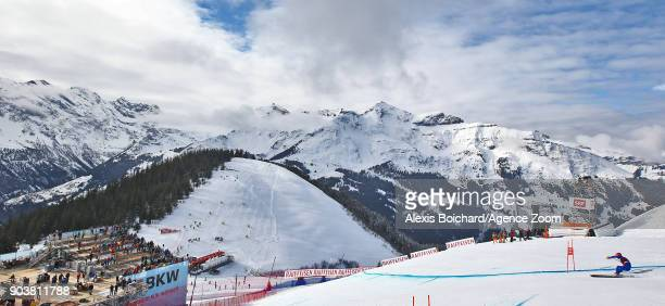 Christof Innerhofer of Italy competes during the Audi FIS Alpine Ski World Cup Men's Downhill Training on January 11 2018 in Wengen Switzerland