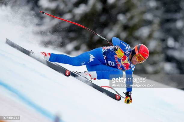 Christof Innerhofer of Italy competes during the Audi FIS Alpine Ski World Cup Men's Downhill on January 20 2018 in Kitzbuehel Austria