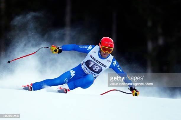Christof Innerhofer of Italy competes during the Audi FIS Alpine Ski World Cup Men's Downhill on January 27 2018 in GarmischPartenkirchen Germany
