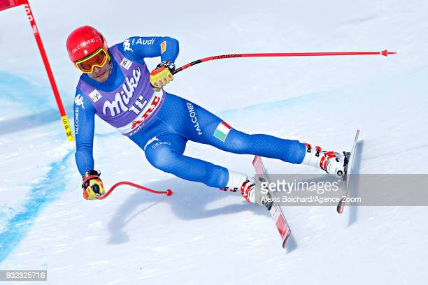 Christof Innerhofer of Italy competes during the Audi FIS Alpine Ski World Cup Finals Men's and Women's Super G on March 15 2018 in Are Sweden