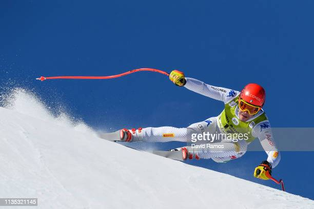 Christof Innerhofer of Italy in action during Men's Downhill training on day two of the 2019 Alpine Skiing World Cup Finals on March 12 2019 in...