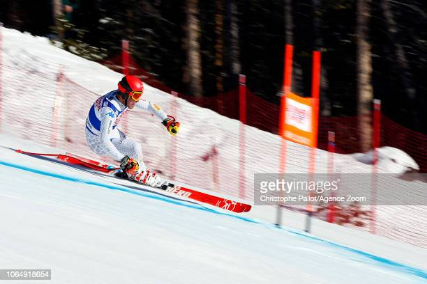 Christof Innerhofer of Italy in action during the Audi FIS Alpine Ski World Cup Men's Downhill on November 24 2018 in Lake Louise Canada