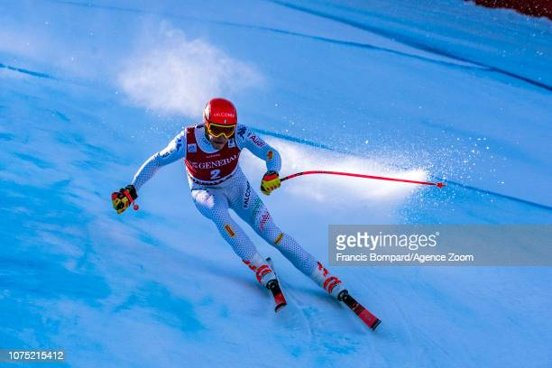 Christof Innerhofer of Italy in action during the Audi FIS Alpine Ski World Cup Men's Downhill Training on December 27 2018 in Bormio Italy