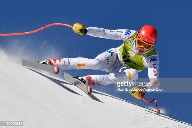 Christof Innerhofer of Italy in action during the Audi FIS Alpine Ski World Cup Men's and Women's Downhill Training on March 12 2019 in Soldeu Andorra