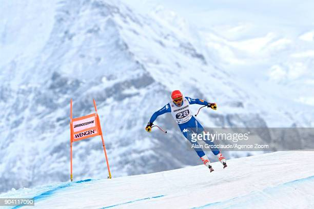 Christof Innerhofer of Italy in action during the Audi FIS Alpine Ski World Cup Men's Combined on January 12 2018 in Wengen Switzerland