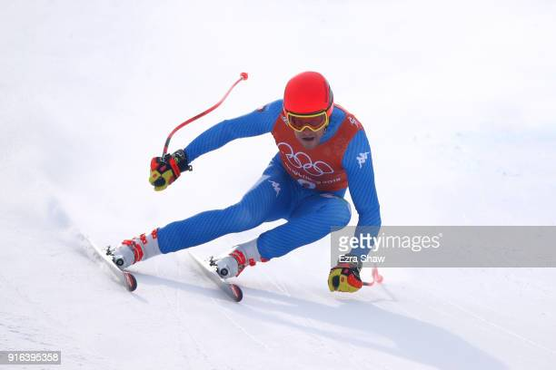 Christof Innerhofer of Italy makes a run during the Men's Downhill 3rd Training on day one of the PyeongChang 2018 Winter Olympic Games at Jeongseon...