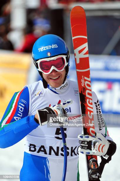 Christof Innerhofer of Italy takes 1st place during the Audi FIS Alpine Ski World Cup Men's Super Combined on February 26 2011 in Bansko Bulgaria
