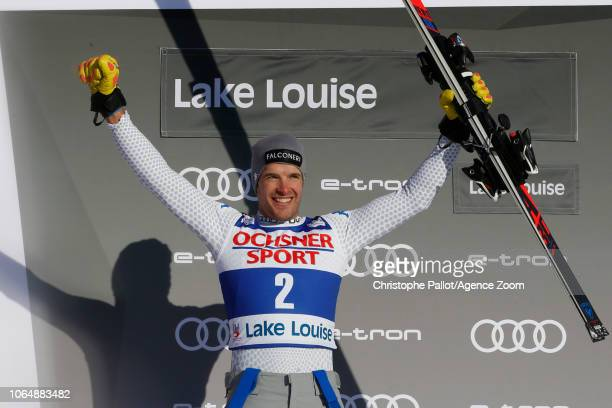 Christof Innerhofer of Italy takes 2nd place during the Audi FIS Alpine Ski World Cup Men's Downhill on November 24 2018 in Lake Louise Canada