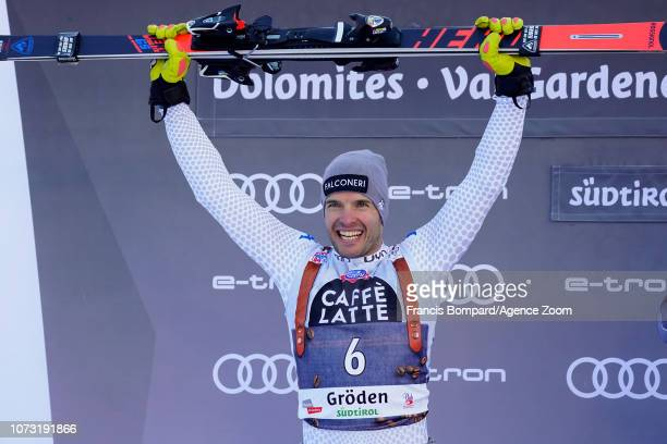 Christof Innerhofer of Italy takes 2nd place during the Audi FIS Alpine Ski World Cup Men's Super G on December 14 2018 in Val Gardena Italy