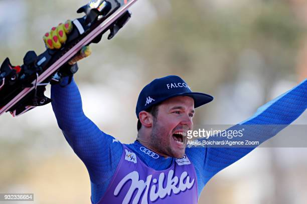 Christof Innerhofer of Italy takes 2nd place during the Audi FIS Alpine Ski World Cup Finals Men's and Women's Super G on March 15 2018 in Are Sweden