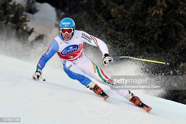 Christof Innerhofer of Italy takes 3rd place during the Audi FIS Alpine Ski World Cup Men's Downhill on December 29 2010 in Bormio Italy