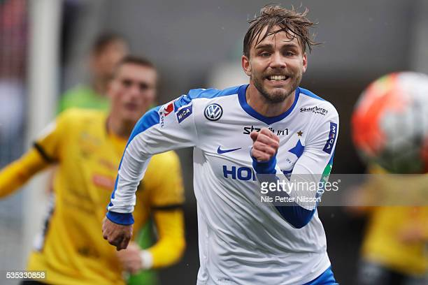 Christoffer Nyman of IFK Norrkoping during the Allsvenskan match between IFK Norrkoping and IF Elfsborg at Ostgotaporten on May 29 2016 in Norrkoping...