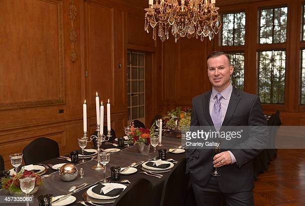 Christofle Brand Ambassador Justin Trabert attends Christofle's Art Of The Table Dinner at Greystone Mansion on October 15 2014 in Beverly Hills...