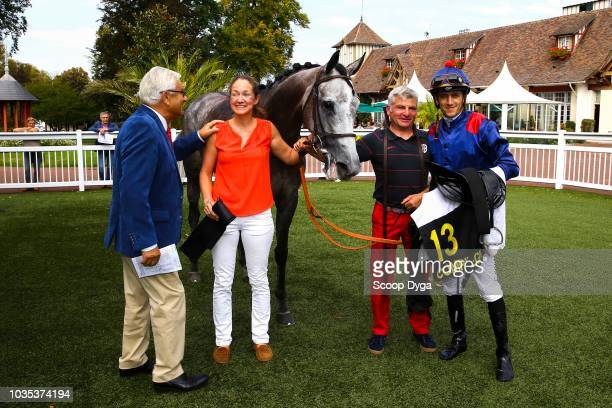 Christope Soumillon riding Golden Rajsa trained and owner by Pauline Menges during the Prix du Chateau de Compiegne on September 18 2018 in Compiegne...