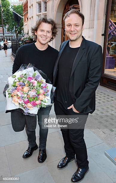 Christoper Kane and Nicholas Kirkwood attend the opening of Roksanda on Mount Street on June 10 2014 in London England