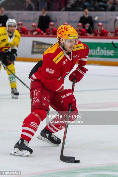 Christoph Bertschy of Lausanne HC in action during the Swiss National League game between Lausanne HC and SC Bern at Vaudoise Arena on November 1,...
