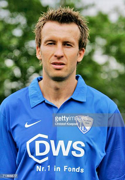 Christoph Dabrowski poses during the Bundesliga Team Presentation of VfL Bochum on June 26 2006 in Bochum Germany
