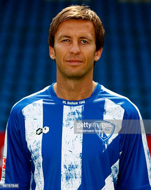 Christoph Dabrowski poses during the VfL Bochum team presentation at the rewirpower stadium on June 29 2009 in Bochum Germany