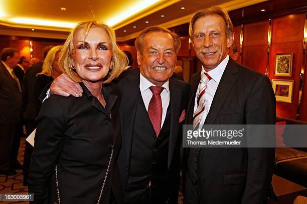 Christoph Daum Margit MayerVorfelder and Gerhard MayerVorfelder pose during the celebration of the 80th birthday of Gerhard MayerVorfelder at the...