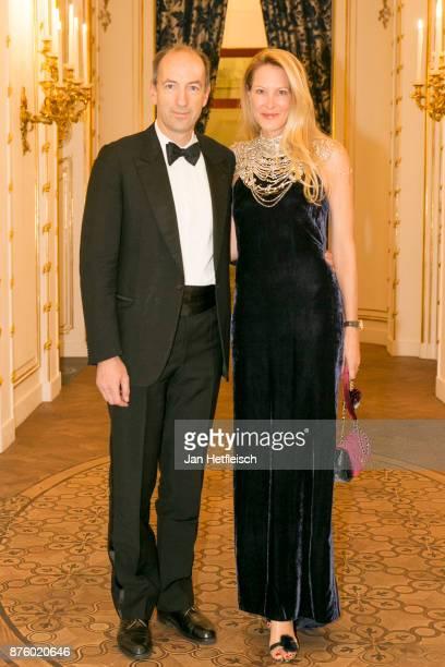 Christoph Dichand and Eva Dichand attend the Aquazzura x Mytheresacom dinner at Palais Liechtenstein on November 18 2017 in Vienna Austria