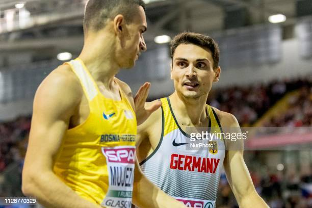 Christoph GER and MUJEZINOVIC Abedin BIH competing in the 800m Men event during day ONE of the European Athletics Indoor Championships 2019 at...