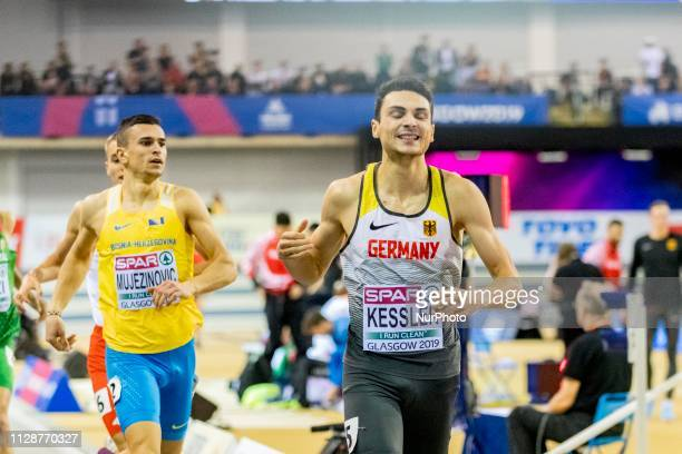 Christoph GER competing in the 800m Men event during day ONE of the European Athletics Indoor Championships 2019 at Emirates Arena in Glasgow...