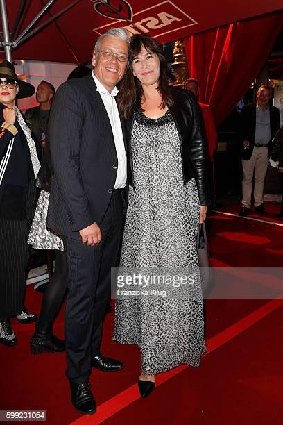 Christoph Goetz and Sandra Maahn attend the 'Nacht der Legenden' at Schmidts Tivoli on September 04, 2016 in Hamburg, Germany.