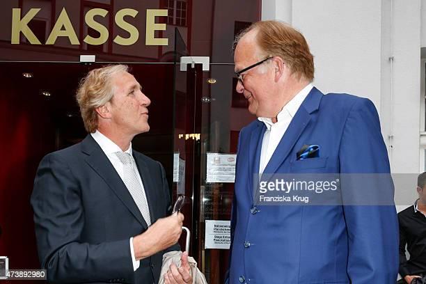 Christoph Gottschalk and Andreas Fritzenkoetter attend the 'Herbstblond - Gottschalks grosse Geburtstagsparty' TV Show on May 18, 2015 in Berlin,...