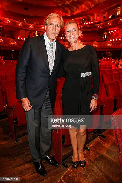 Christoph Gottschalk and his sister Raphaela Gottschalk attend 'Herbstblond Gottschalks grosse Geburtstagsparty' TV Show on May 18 2015 in Berlin...