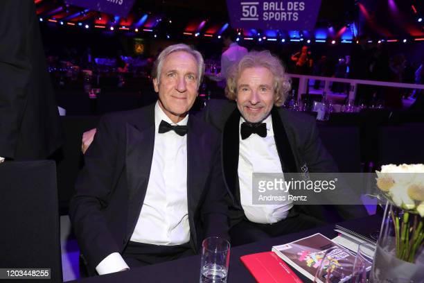 Christoph Gottschalk and Thomas Gottschalk attend the Ball des Sports 2020 gala at RheinMain CongressCenter on February 01, 2020 in Wiesbaden,...