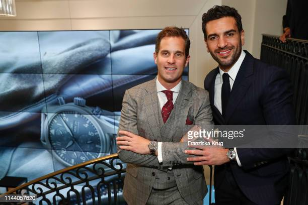 Christoph GraingerHerr and Elyas M'Barek attend the IWC Schaffhausen Pilots Watches Launch Event Boutique in Munich on May 16 2019 in Munich Germany