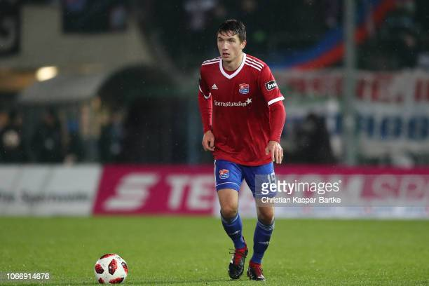 Christoph Greger of SpVgg Unterhaching in action during the 3 Liga match between SpVgg Unterhaching and 1 FC Kaiserslautern at Alpenbauer Sportpark...