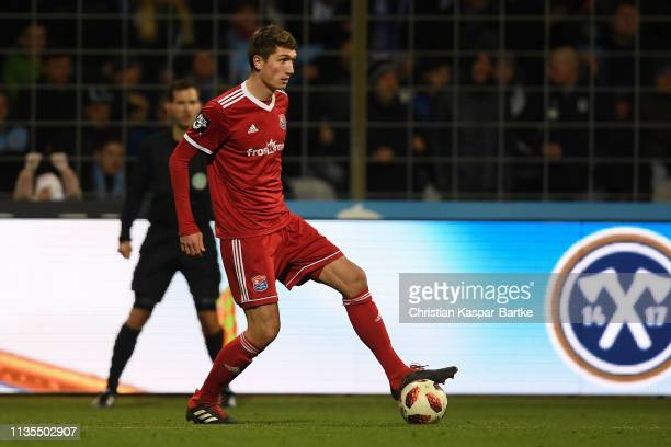 Christoph Greger of SpVgg Unterhaching in action during the 3 Liga match between TSV 1860 Muenchen and SpVgg Unterhaching at Stadion an der...